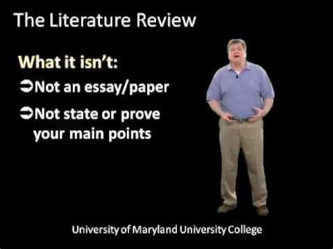 How to write a literature review examples